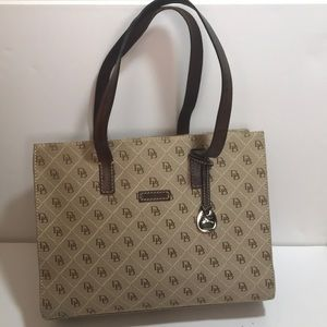 Dooney and Bourke Signature Fabric Leather Purse